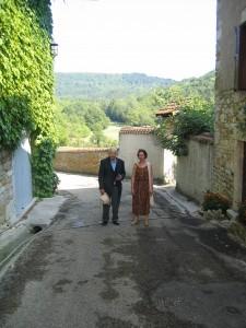Marcel Conche  et Nathalie  juillet 2003