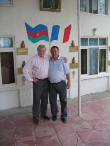 Avec le fils d'Ahmed Michel
