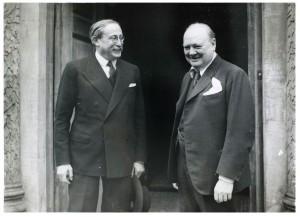 Winston Churchill et Léon Blum